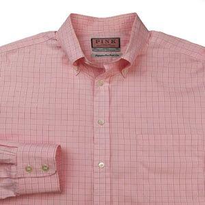 Thomas Pink Superfine 2 Fold 170's Shirt Sz L $165